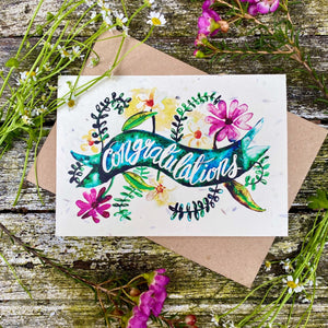 Plantable Greetings Card - Congratulations