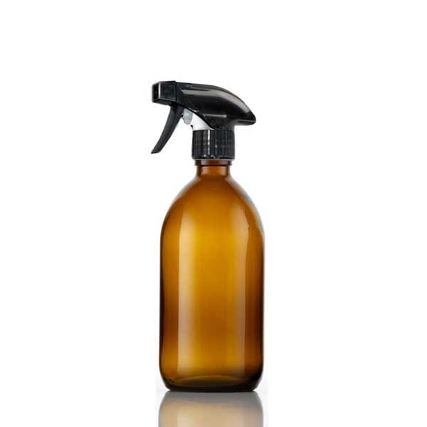 Amber Glass Bottle with Trigger Spray Top (500ml)