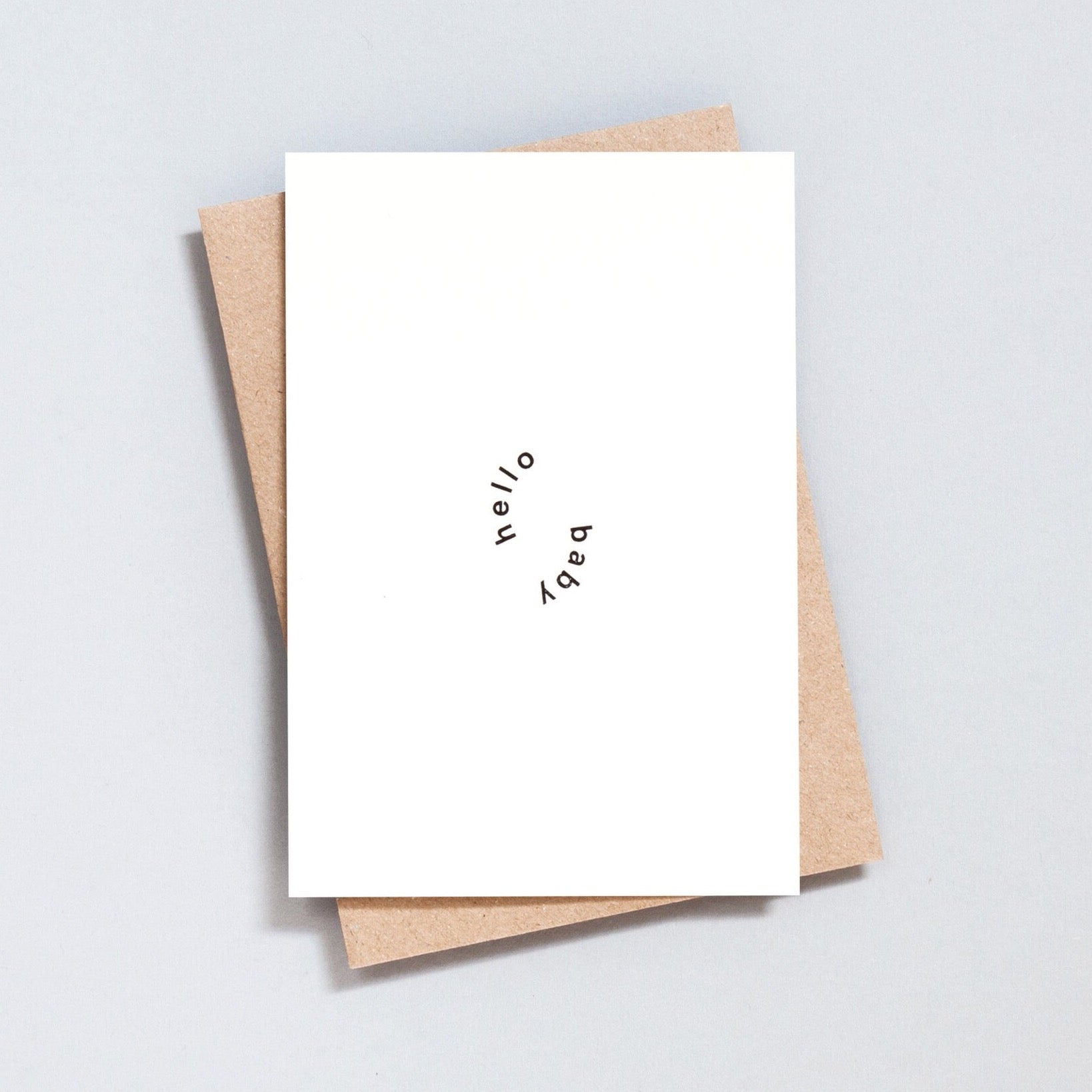 Ola Hand Printed Greetings Card - Hello Baby