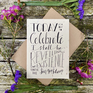 Plantable Greetings Card - Celebrate