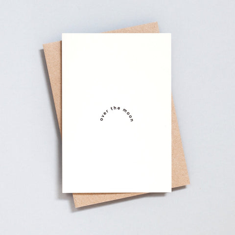 Ola Hand Printed Greetings Card - Over The Moon