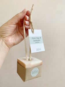 Soap on a Rope - 130g (Pink Clay & Lavender)