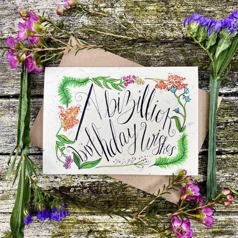 Plantable Greetings Card - Birthday Wishes