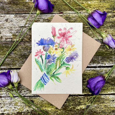 Plantable Greetings Card - Flowers