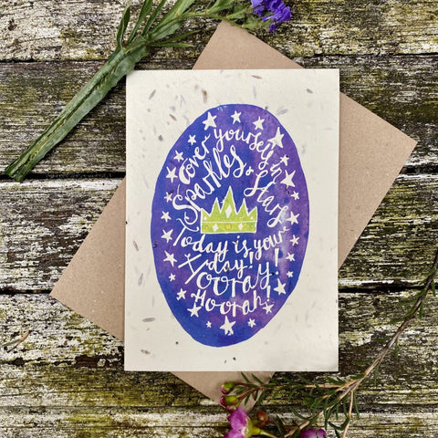 Plantable Greetings Card - Sparkles