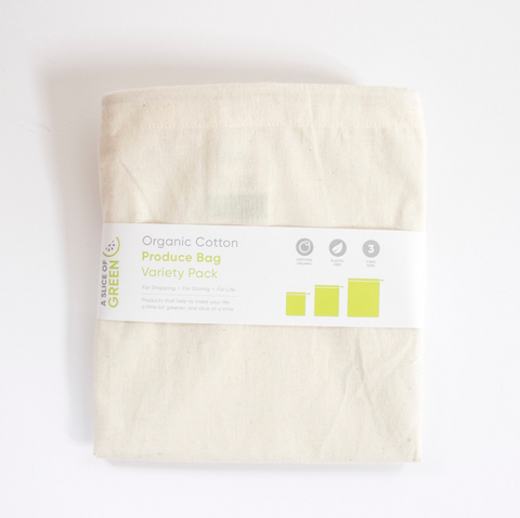 Produce Bag - Organic Cotton (Variety Pack of 3)