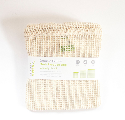 Produce Bag - Organic Cotton Mesh (Variety Pack of 3)