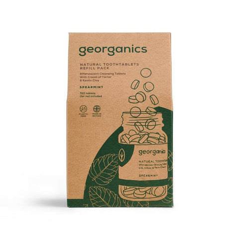 Georganics Natural Toothpaste Tablets - Spearmint (720 Tablets)