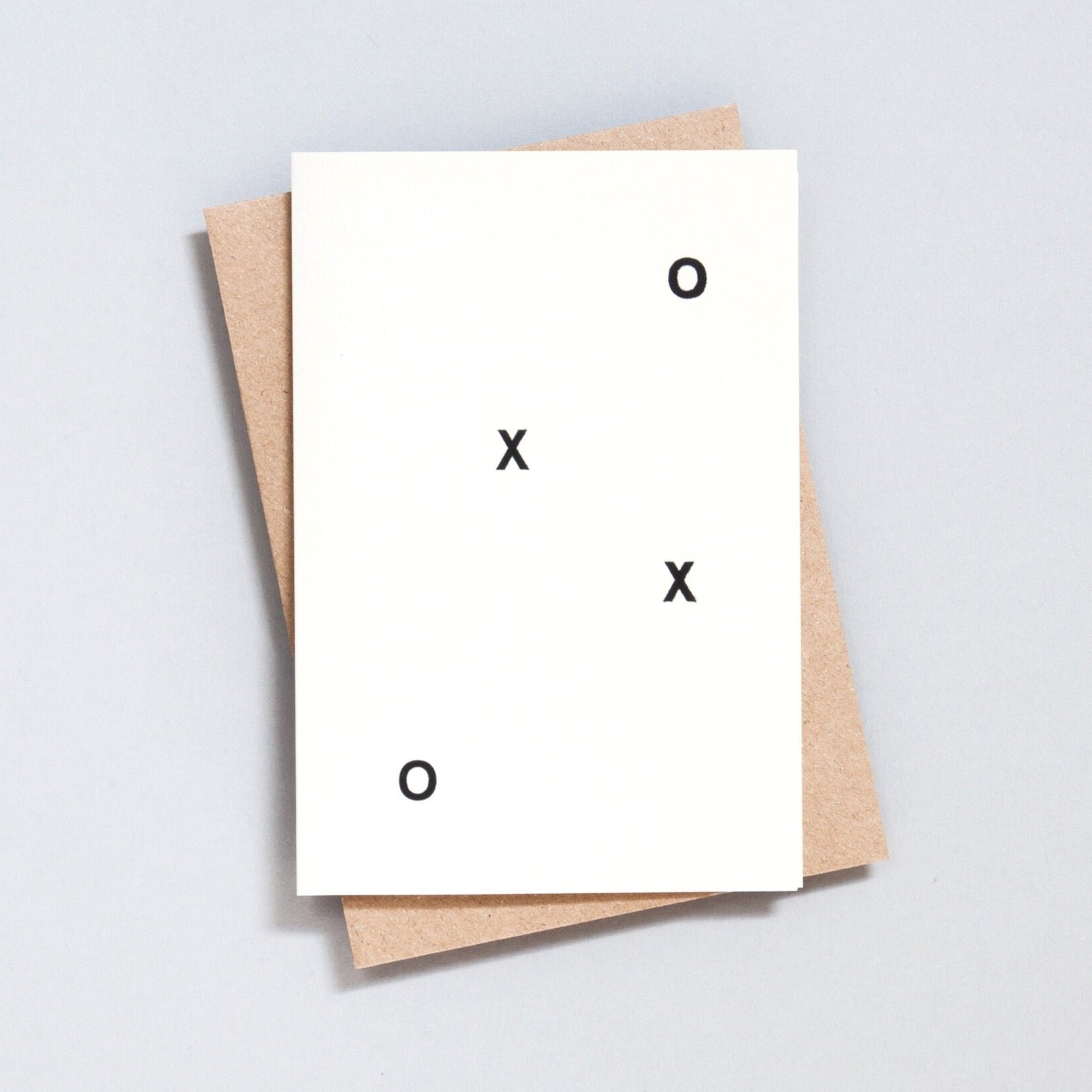Ola Hand Printed Greetings Card - XOXO