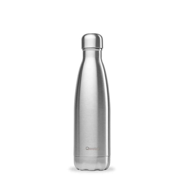 Qwetch Insulated Drinks Bottle - Stainless Steel (500ml)