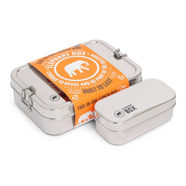Elephant Box Stainless Steel Two-in-One Lunch Box