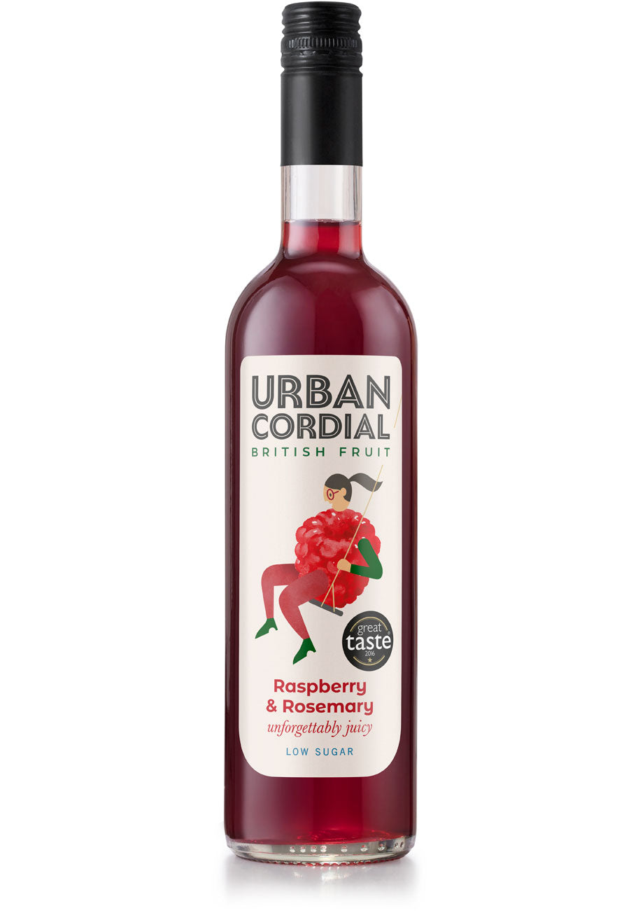 Urban Cordial - Raspberry and Rosemary (500ml)