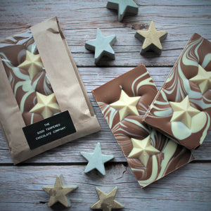Milk Chocolate Slab with White Chocolate Stars