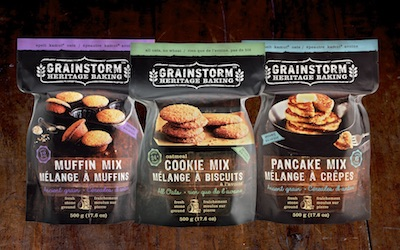 GRAINSTORM organic baking mixes