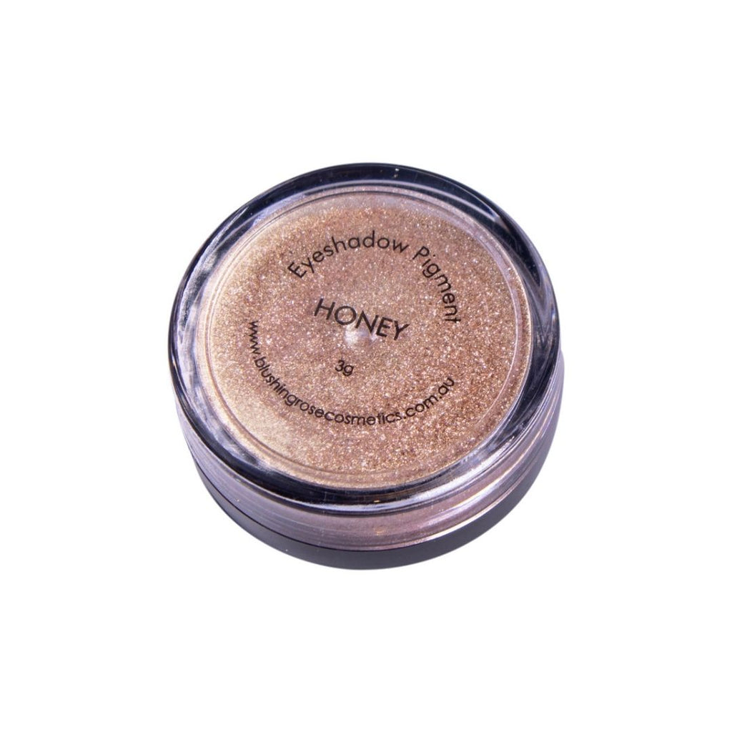 Blushing rose cosmetics honey loose pigment