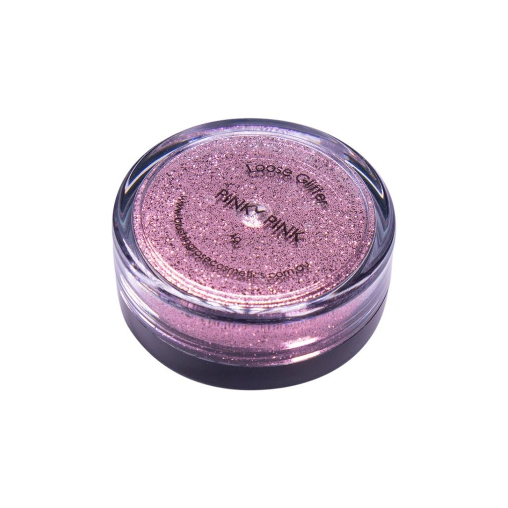 Blushing rose cosmetics pinky pink loose glitter
