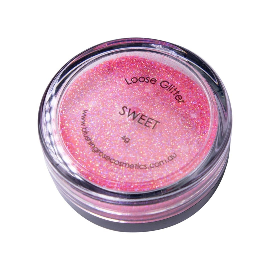 Blushing rose cosmetics sweet loose glitter