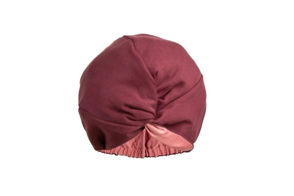Damn Gina Silk hair turban burgundy english rose
