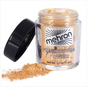 Mehron makeup precious gem powder citrine opened