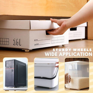 360º Storage Box Stick-On Wheels Home starryhome