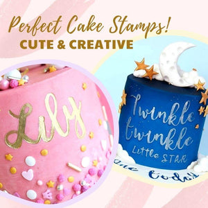 DIY Alphabet Cake Stamp Fondant Mold Kitchen starryhome