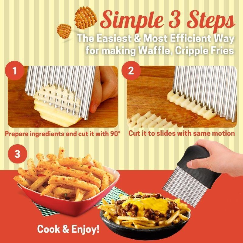 Stainless Steel French Fries Cutter Kitchen starryhome