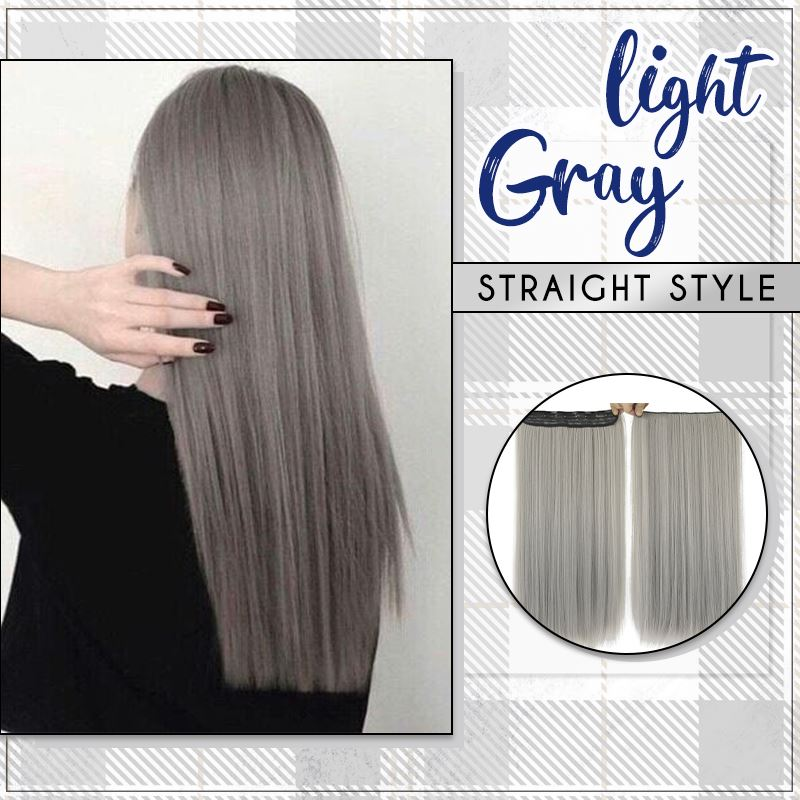 Silver Gray Hair Extension starryhome