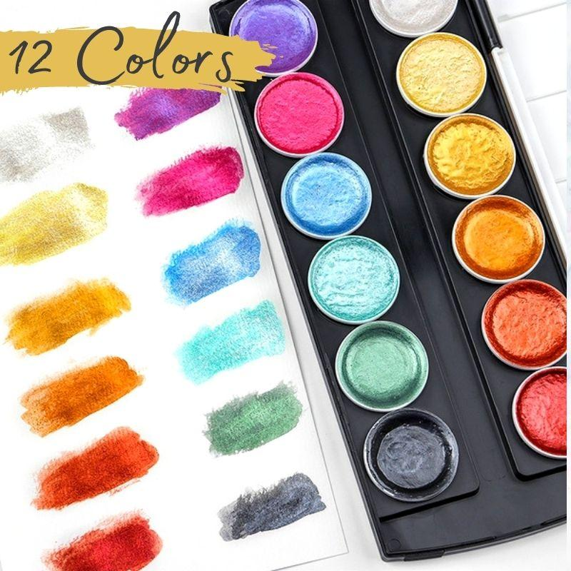 Metallic Watercolor Painting Set Kids starryhome