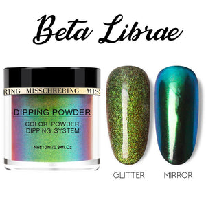 Galaxite Mirror Nail Dip-in Powder Nails MadameFlora Beta Librae