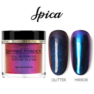 Galaxite Mirror Nail Dip-in Powder Nails MadameFlora Spica