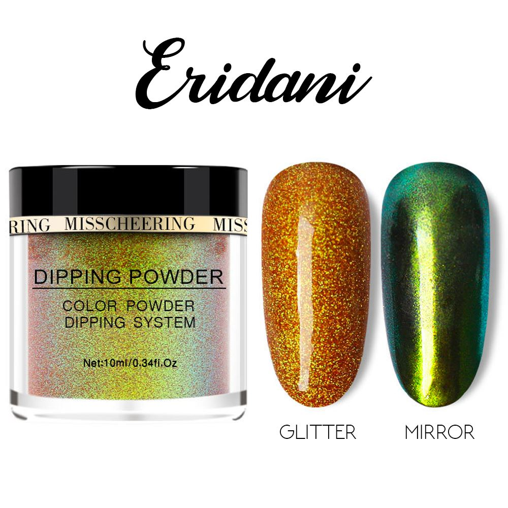 Galaxite Mirror Nail Dip-in Powder Nails MadameFlora Eridani