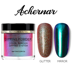 Galaxite Mirror Nail Dip-in Powder Nails MadameFlora Achernar