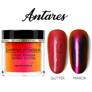 Galaxite Mirror Nail Dip-in Powder Nails MadameFlora Antares