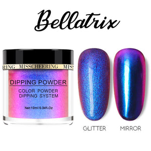 Galaxite Mirror Nail Dip-in Powder Nails MadameFlora Bellatrix