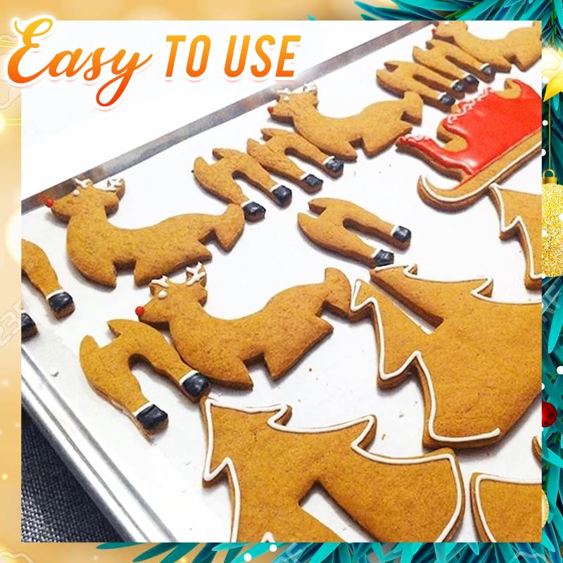 3D Christimas Cookies Mold (Set of 3) Kitchen DazzyCandy