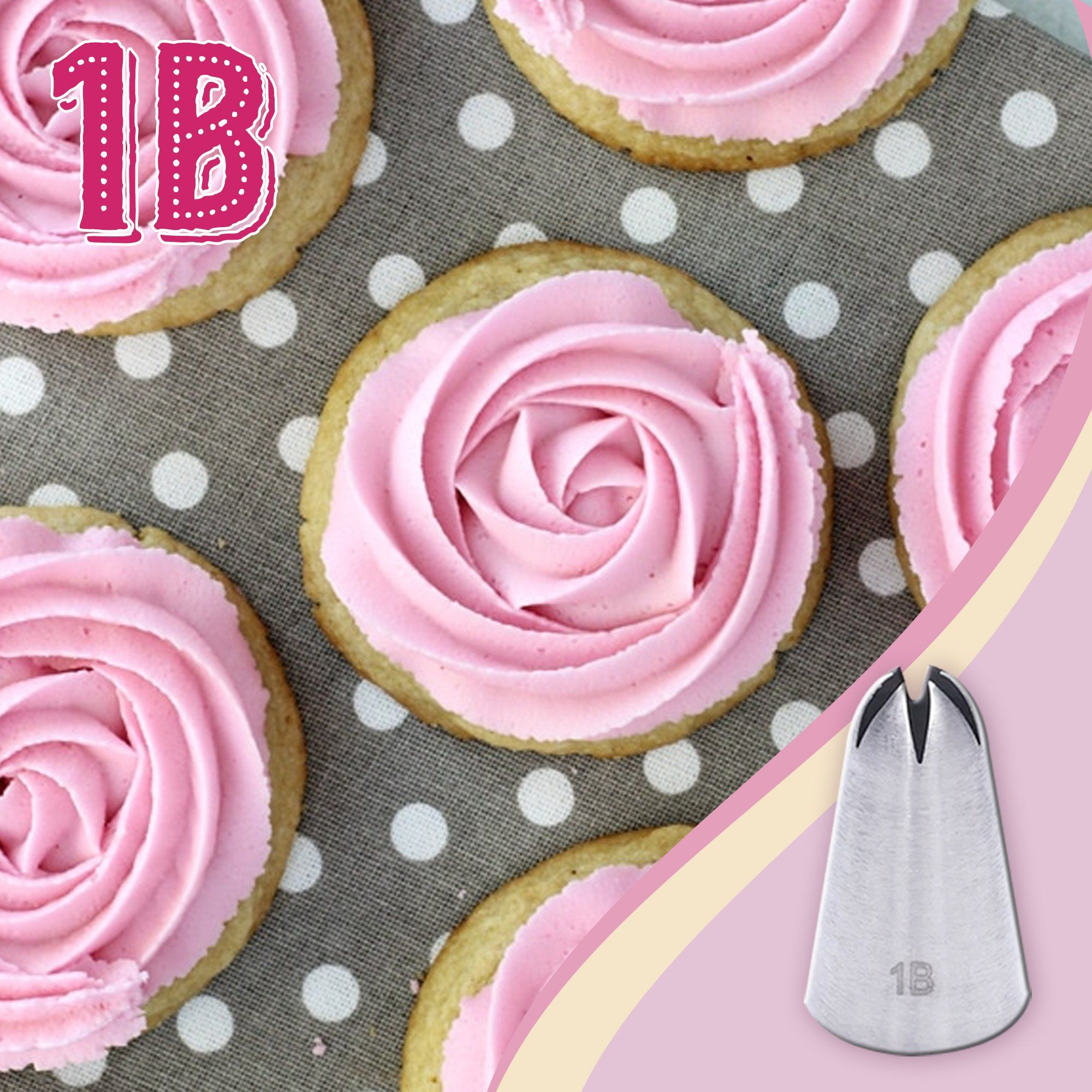 Large Size Rosette Icing Piping Nozzle (3pcs/Set) Kitchen DazzyCandy