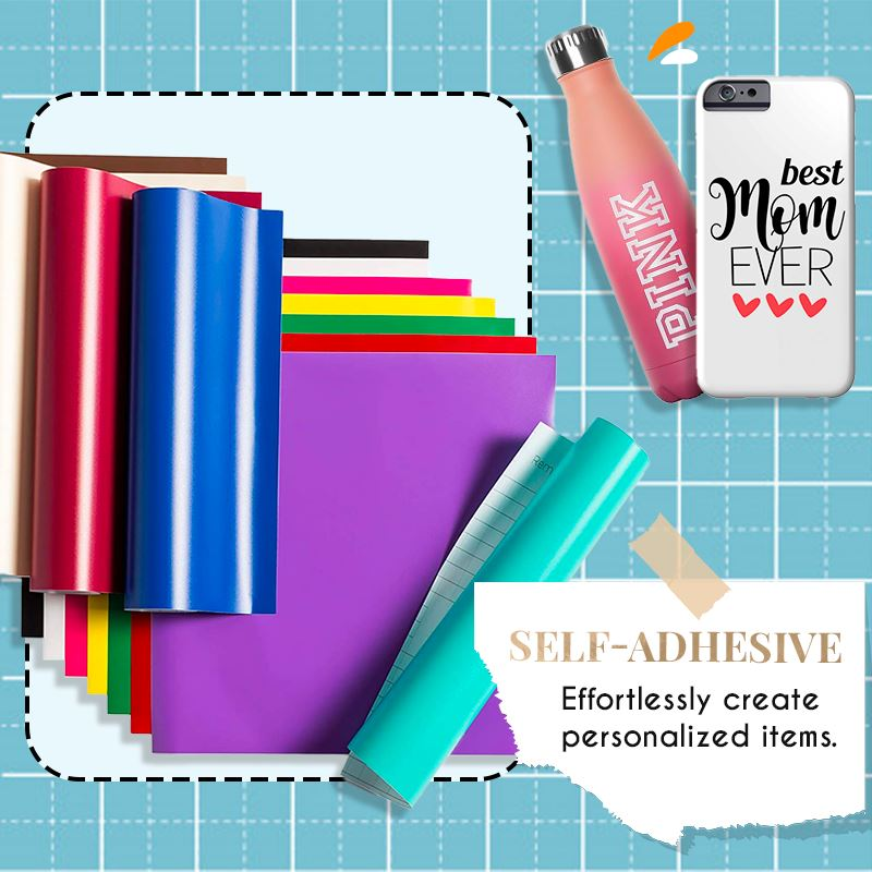 Decorative Glossy Adhesive Vinyl Film and Transfer Paper Set Home starryhome