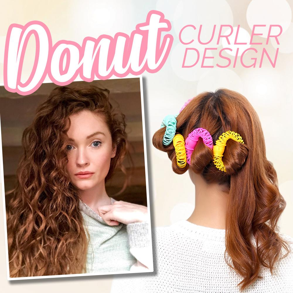 Donut Spring Hair Curlers (Set of 14) Hair DazzlingBreeze