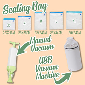 Electric Vacuum Sealer Machine Kitchen DazzlingBreeze XS Sealing Bags (5pcs)