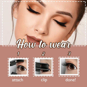 GlueFree™ Magnetic Eyelashes Makeup Huggy Bazaar
