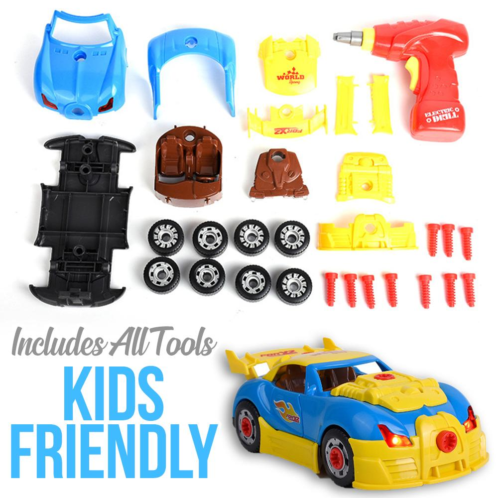 Racing Car Assembly Kit Kids DazzlingBreeze