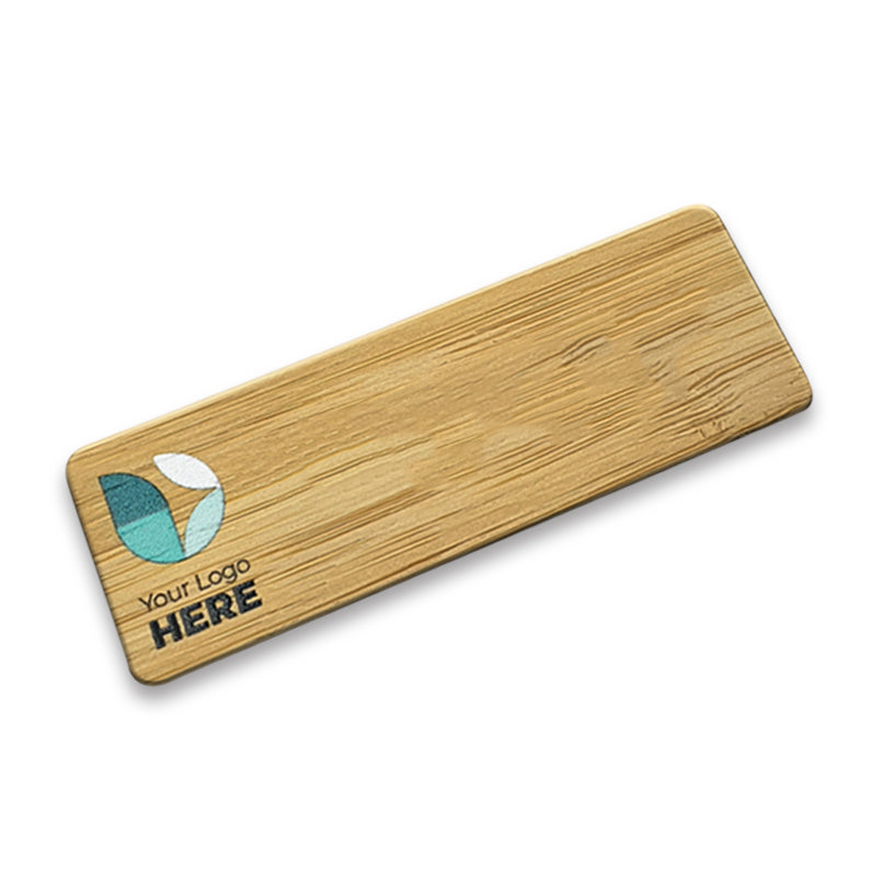 Eco Bamboo Logo Only Badge - Printed