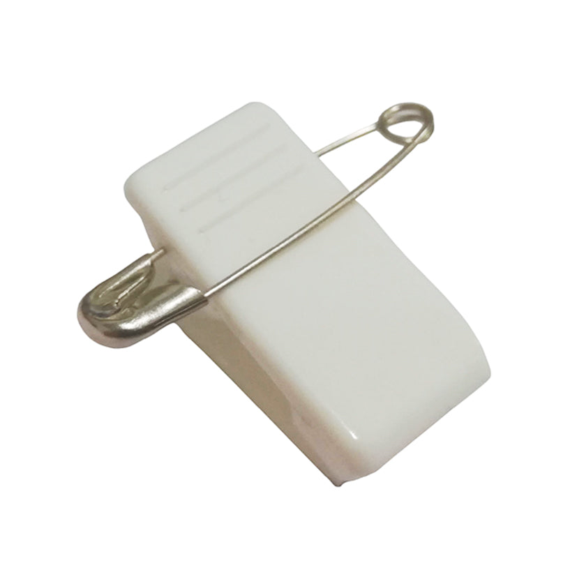 Self Adhesive Name Badge Clip with Pin - 10 Pack