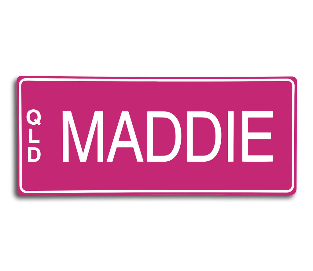 PINK - WHITE WRITING| | Custom Engraved Novelty Number Plate
