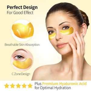 24K Gold Crystal Collagen Eye Mask Patch (20Packs)