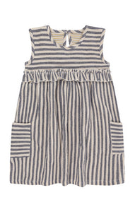 Reversible Dress- Crinkle Stripe