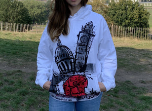Red London Bus,St Paul's and Tower Bridge Hoodie