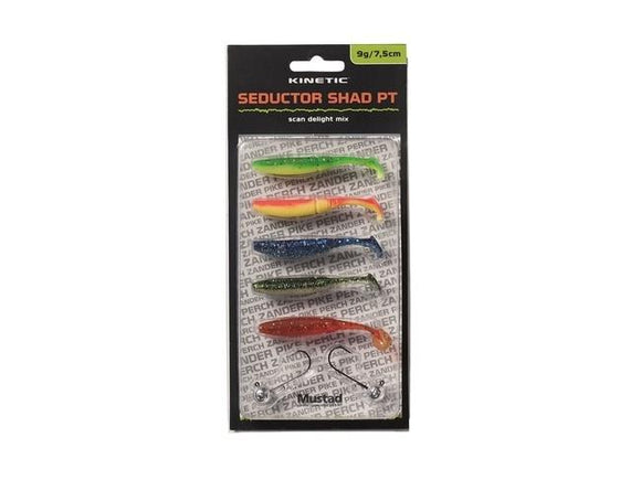 Kinetic Seductor Shad PT Scan Delight Mix Lures