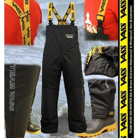 Vass 350 Series Winter Bib & Brace Black