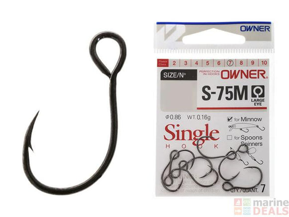 Owner S-75M Minnow Single Lure Barbed Hooks